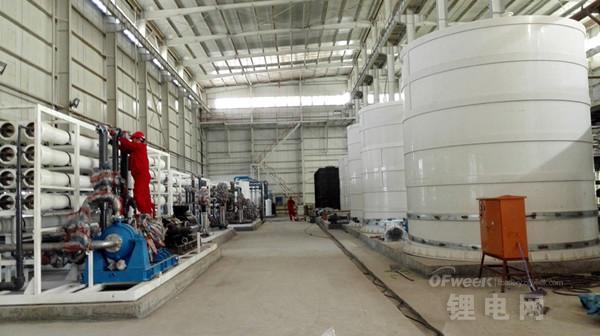 2000吨电池级碳酸锂项目进展顺利