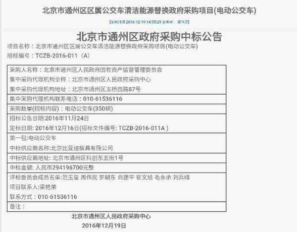 宋楠:比亚迪K系列电动大巴进北京!