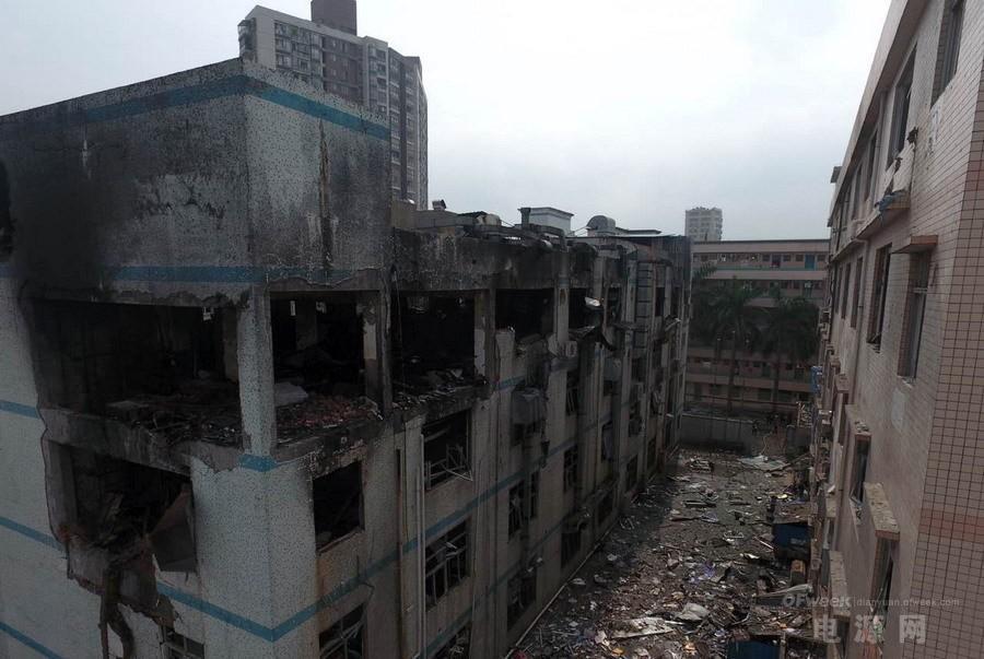 深圳龙华美拜电子起火并爆炸