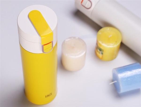 智能保温杯三色LED灯可提示水温