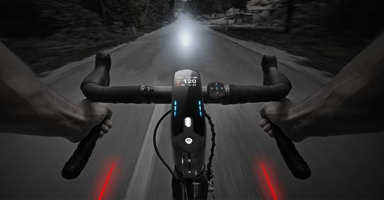 夜骑首选:Speednite搭配红色激光感应灯