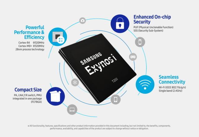 三星量产第一款物联网芯片Exynos i T200
