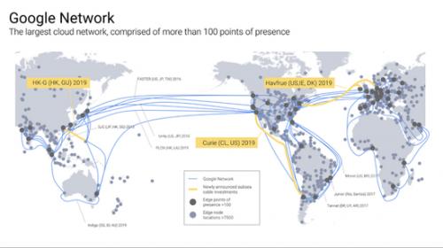 为扩大云业务,谷歌将新铺三条海底光缆
