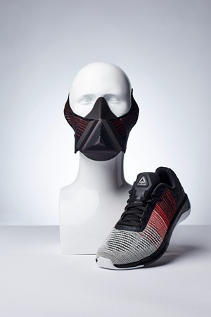 锐步新推出带有3D打印训练面具的Flexweave材料