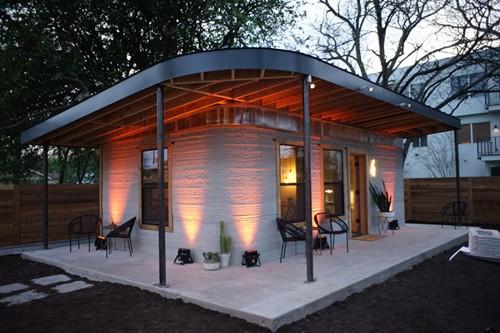 3D打印一天完成60.4平米住房 每平造价1000元