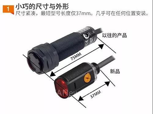 奥托尼克斯新一代圆柱型光电传感器BRP-B系列即将上市