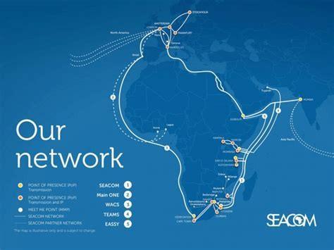SEACOM海底光缆系统扩容至1.5Tbps