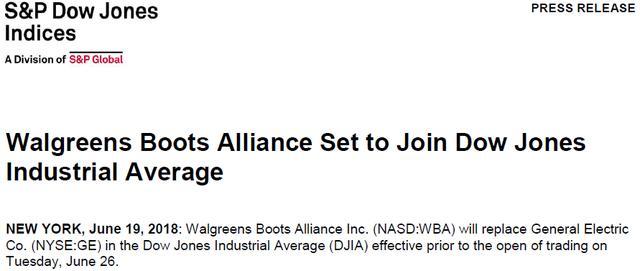 """巨变:那个稳坐道琼斯工业指数110年的公司被""""移除""""了"""