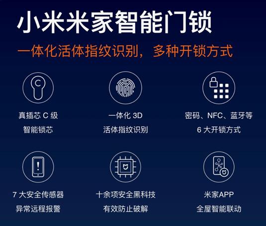 小米米家智能门锁将搭载最高安全等级锁芯,12月5日发布