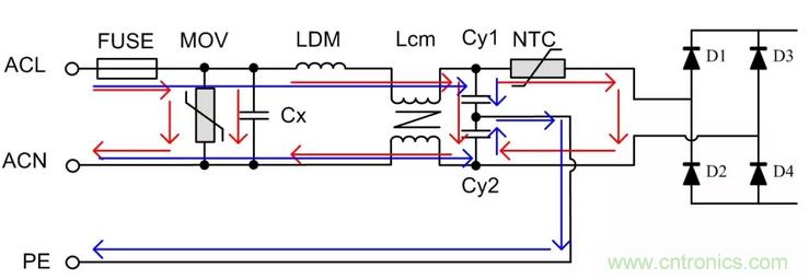 从浪涌抗扰度分析设计电源的前级电路