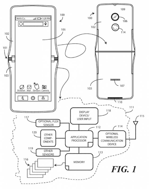 摩托罗拉折叠屏手机要来了:机身将上下对折