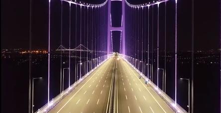 又一超级工程!虎门二桥全线调试亮灯