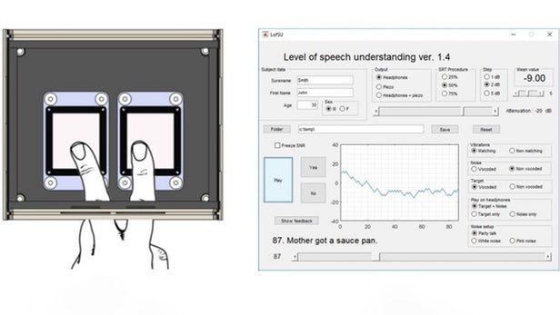 """新设备让失聪人士通过指尖""""听到""""声音"""