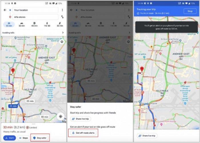 谷歌地图会判断出租车司机是否正在偏离最短路线以获得更高的费用
